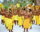 Men involved in traditional dance