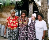 Director Briar March with some of the Women of Takuu