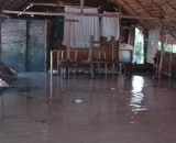A class room lies ruined after the day the king tide arrived